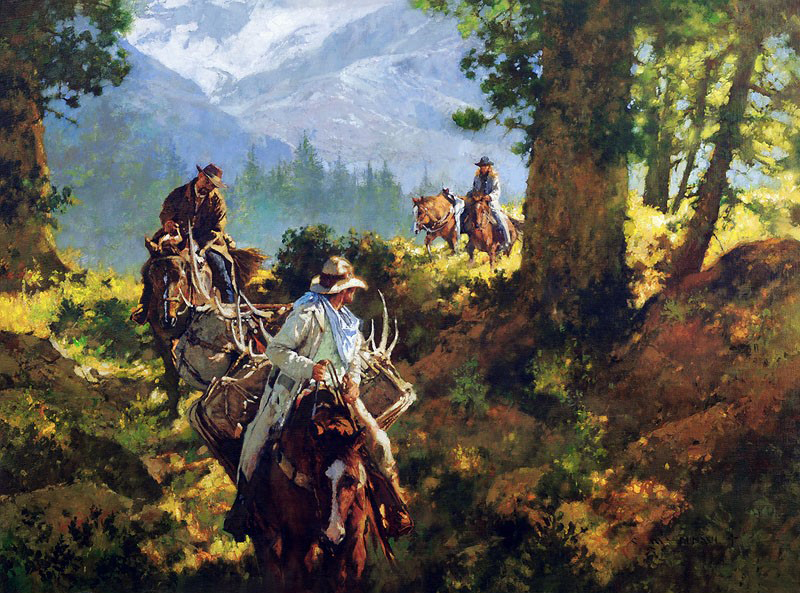 After the Hunt, Still Carrying her Weight, artist C.M. Dudash, limited edition giclee print