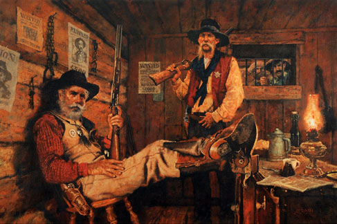 """A Sherrif, A Deputy, A Days Catch"", Artwork by Michael Dudash"