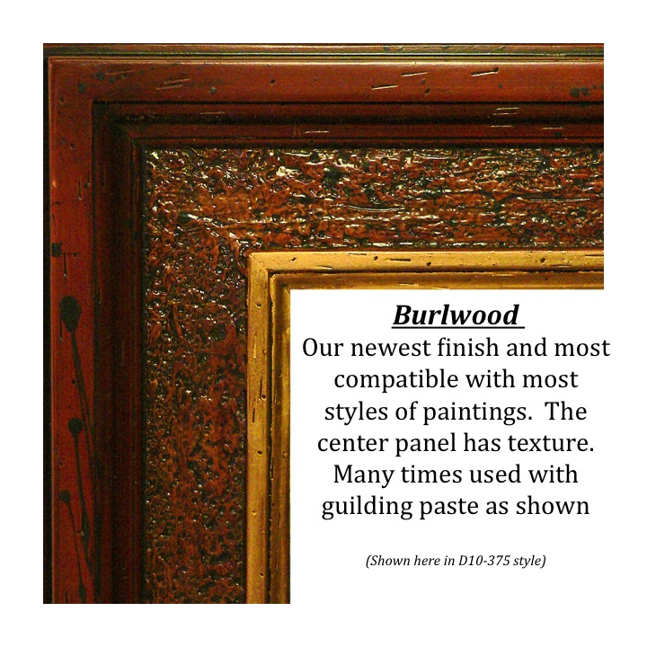 Burlwood, Bitterroot Frames, finishes, custom frames