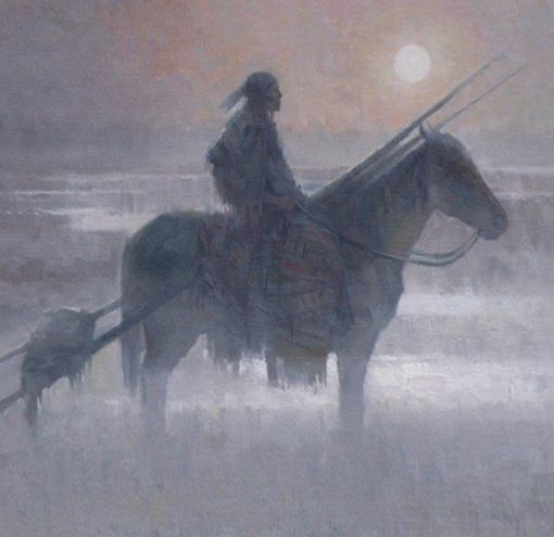 Blackfoot Winter by artist Rachel Warner