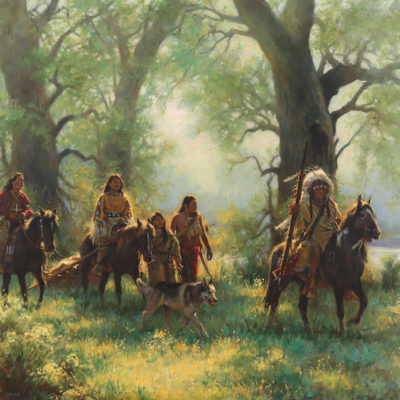 Through the Trees by artist Don Oelze, western prints