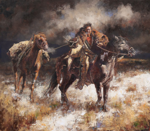 Bitter Cold giclee print by artist Don Oelze