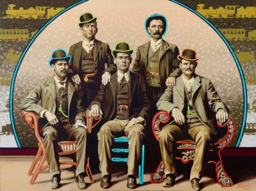 36x48 limited edition giclee print, The Wild Bunch by artist Michael Blessing