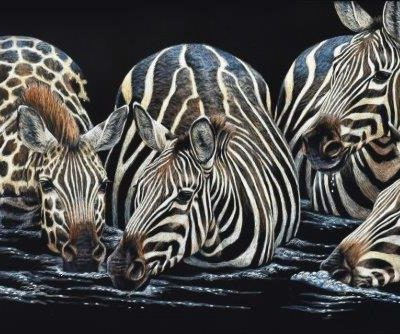 7.5x18 giclee print, There Must be something in the Water by artist Cynthie Fisher