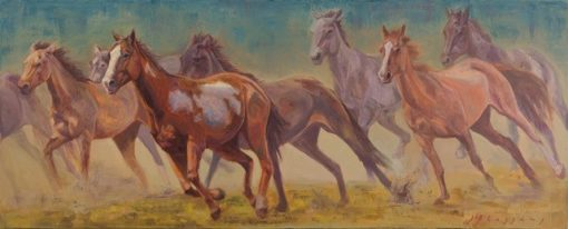 16x40 giclee print, Remuda by artist Meagan Blessing