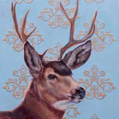 24x20 giclee print, Vintage Blue by artist Meagan Blessing